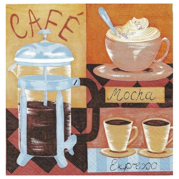 4 Serviettes en papier Café Cuisine Format Lunch - Photo n°1
