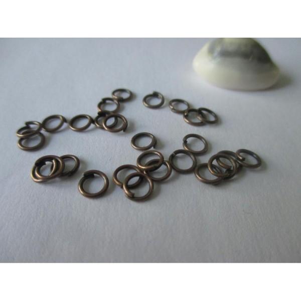 Lot 100 Anneaux double de jonction Cuivré 5mm Creation bijoux colier,... 5 mm