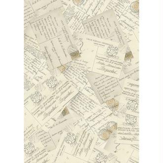 1 feuille de papier de découpage collage 21 x 29,7 cm CARTE POSTALE ECRITURE 21