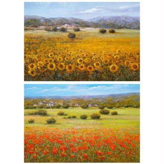 1 feuille de papier de découpage collage 21 x 29,7 cm NATURE TOURNESOL 183