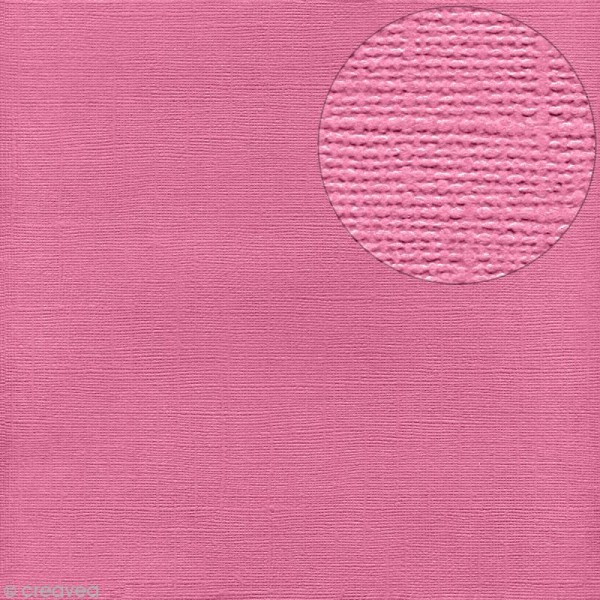 Papier Bazzill 30 x 30 cm - Pailleté - Feather boa (Rose) - Photo n°1