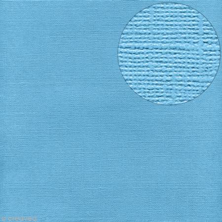 Papier Bazzill 30 x 30 cm - Pailleté - Glitz (Bleu piscine) - Bazzill