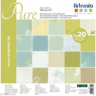 Papier Scrapbooking Artemio - Pure - 30,5 x 30,5 cm - 40 pcs