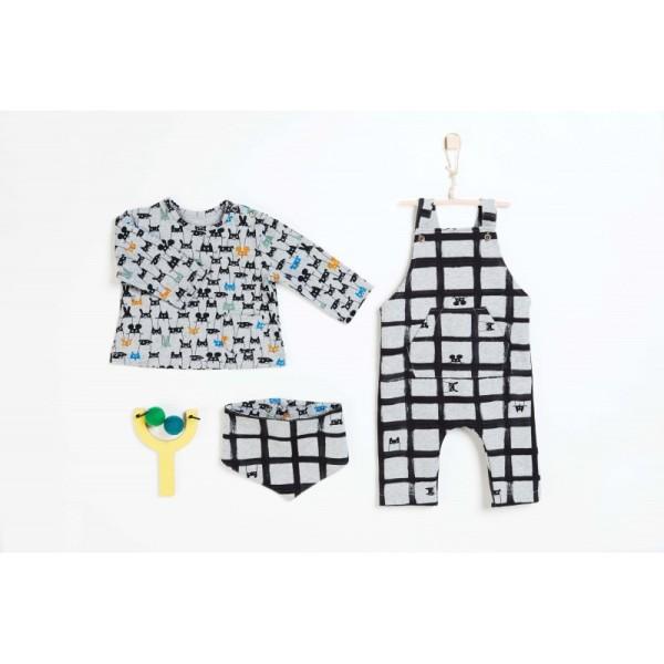 Pochette patron bébé du 1 au 12 mois, 3 en 1 SALOPETTE, tee-shirt et Bandana ! - Photo n°1
