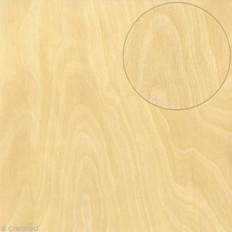 Papier scrapbooking Bazzill - Bois - Clair - 30 x 30 cm