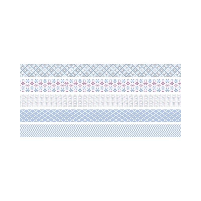 rubans d coratifs adh sifs mini ciel masking tape creavea. Black Bedroom Furniture Sets. Home Design Ideas