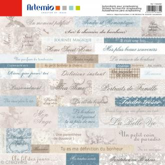 Stickers Artemio - Charme - 1 planche 30,5 x 30,5 cm