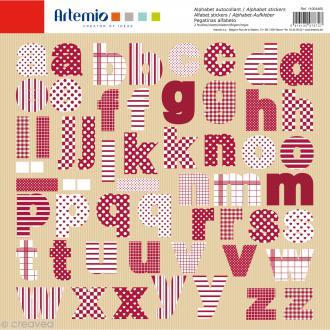 Stickers Alphabet Artemio - Campagne - 2 planches 30,5 x 30,5 cm - 100 pcs