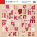 Stickers Alphabet Artemio - Campagne - 2 planches 30,5 x 30,5 cm - 100 pcs - Photo n°1