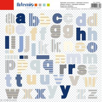 Stickers Alphabet Artemio - Long Island - 2 planches 30,5 x 30,5 cm - 100 pcs