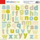 Stickers Alphabet Artemio - Pure - 2 planches 30,5 x 30,5 cm - 100 pcs - Photo n°1