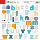 Stickers Alphabet Artemio - Boy - 2 planches 30,5 x 30,5 cm - 100 pcs - Photo n°1