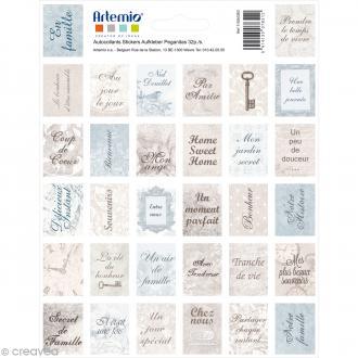 Stickers timbre décoratif - Charme - 3,3 x 2,7 cm - 64 pcs