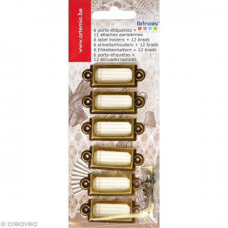 Lot porte-étiquettes et attaches Artemio - Bronze