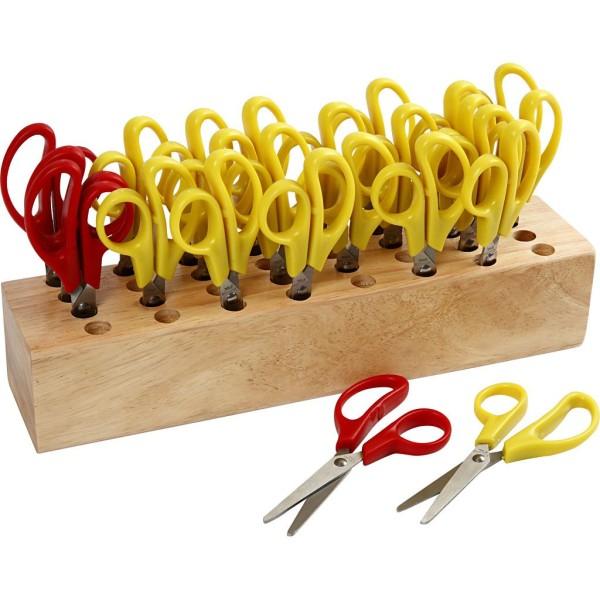 Ciseaux enfants avec bloc de rangement, L: 12,5 cm, 1 set - Photo n°1