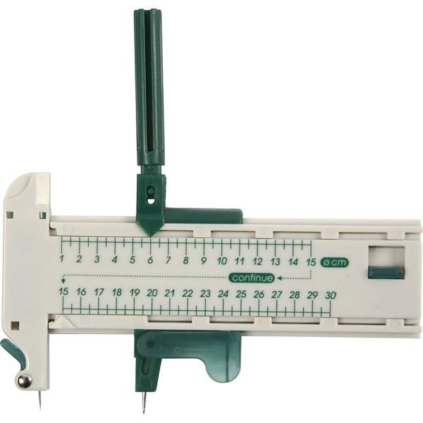 Cutter compas en plastique - 6 lames de rechange - Photo n°1