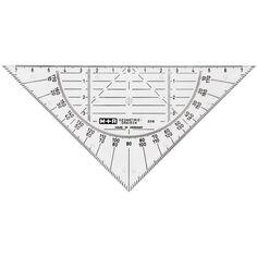 Équerre géométrique 16 cm - 1 pce