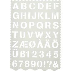 Gabarit pour alphabet et chiffres - lettres de 2,6 cm