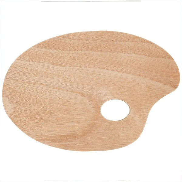 Palette ovale en bois - 20 x 30 cm - Photo n°1