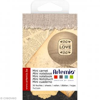 Mini carnet scrapbooking Love Vintage Artemio - 7 x 11 cm