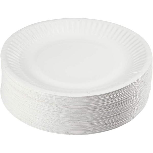 Assortiment d'assiettes en carton - 15 cm - 100 pcs - Photo n°1