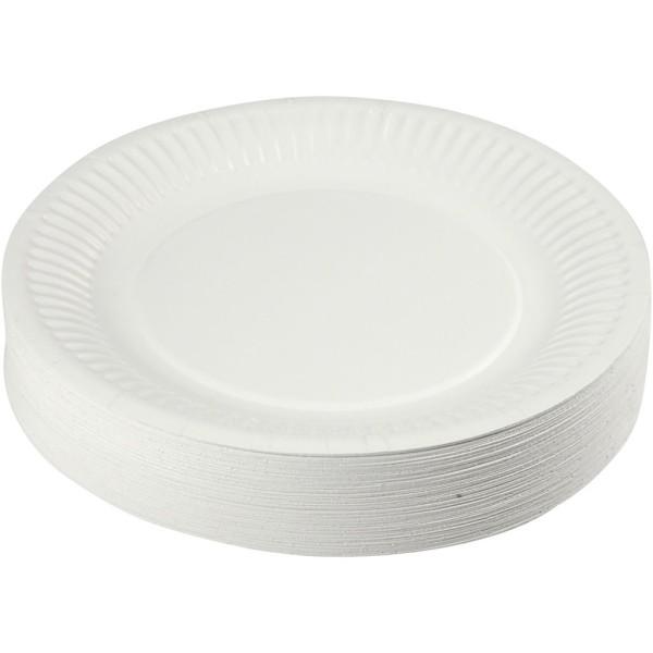 Assortiment d'assiettes en carton - 18 cm - 100 pcs - Photo n°1