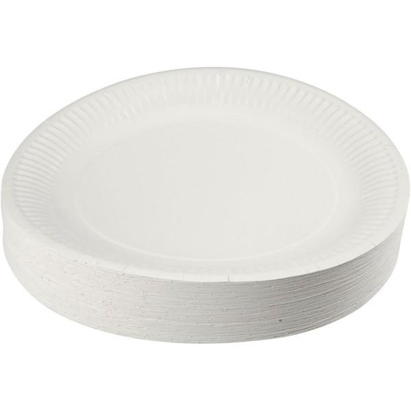Assortiment d'assiettes en carton - 23 cm - 100 pcs - Photo n°1