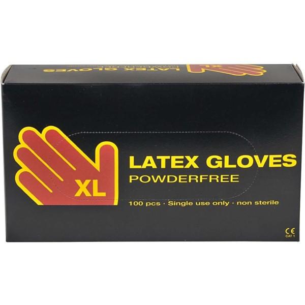 Gants de latex - taille XL - 100 pcs - Photo n°1