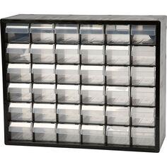 Organiseur en plastique 36 tiroirs - 33x40,7x14,1 cm