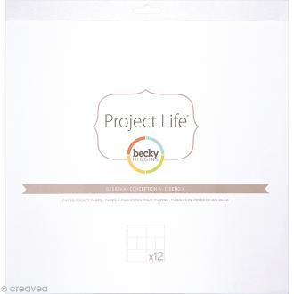 Pochettes transparentes photos Project Life - 12 pcs