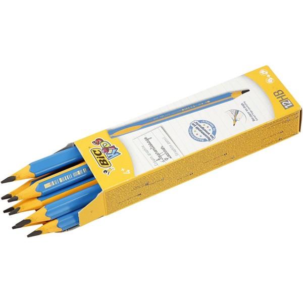 Crayons pour débutants, L: 14 cm, 4 mm de mine, 12 pièces - Photo n°1