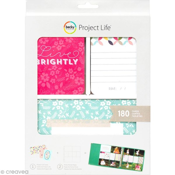 Cartes album photos Project Life - Live Brightly - Photo n°1
