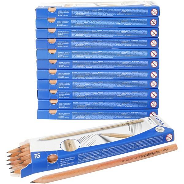Crayons pour école, L: 18 cm, 2 mm de mine, 12x12 pièces - Photo n°1