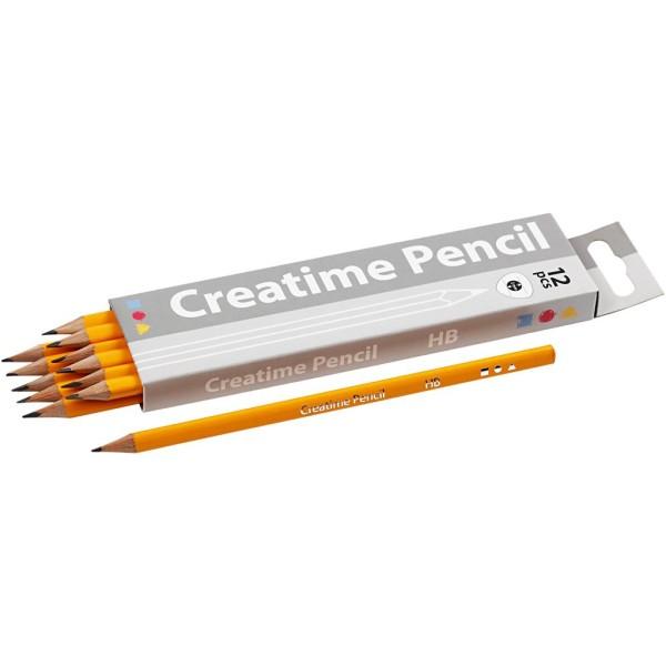 Crayons papier pour enfants HB - 12 pcs - Photo n°1