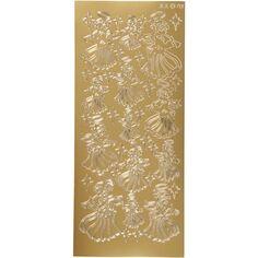 Stickers Peel Off Ange - Doré - Planche de 10x23 cm