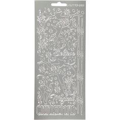 Stickers Peel Off Rennes Christmas - Argenté - Planche de 10x23 cm