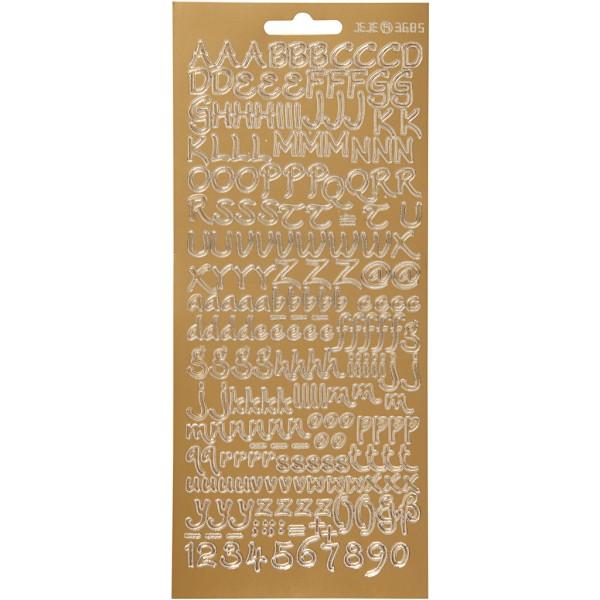 Autocollants peel off Alphabet Ethnique - Doré - 1 pce - Photo n°1
