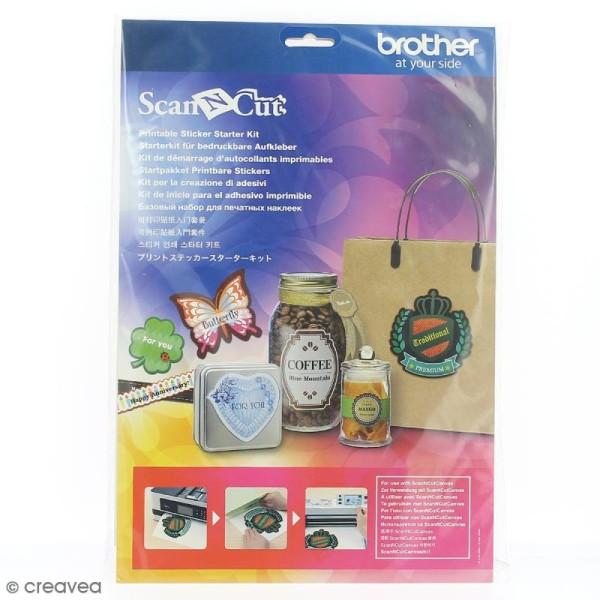 Kit de démarrage autocollants imprimables Scan'N'Cut - Photo n°1