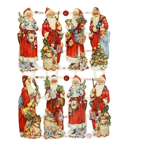 Carte 3D pré-découpée - Père Noël debout - 16,5 x 23,5 cm - 3 feuilles - Photo n°1