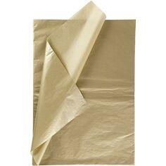 Papier de soie - Or - 50 x 70 cm - 6 feuilles