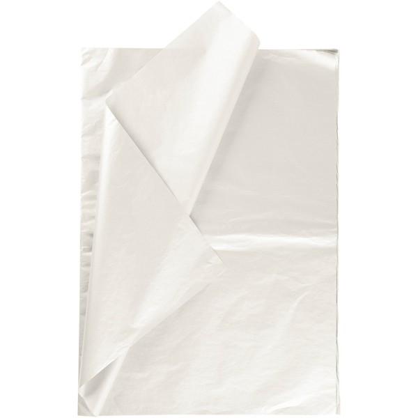 Papier de soie - Nacré - 50 x 70 cm - 6 feuilles - Photo n°1