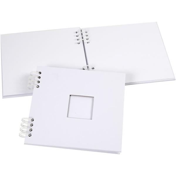 Carnet scrapbooking - 20 x 20 cm - Blanc - 20 feuilles - Photo n°1