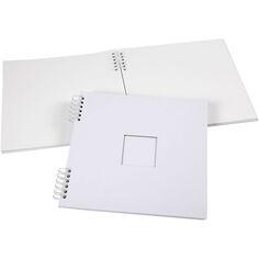 Cahier de scrapbooking - 30,5 x 30,5 cm - Blanc - 20 feuilles