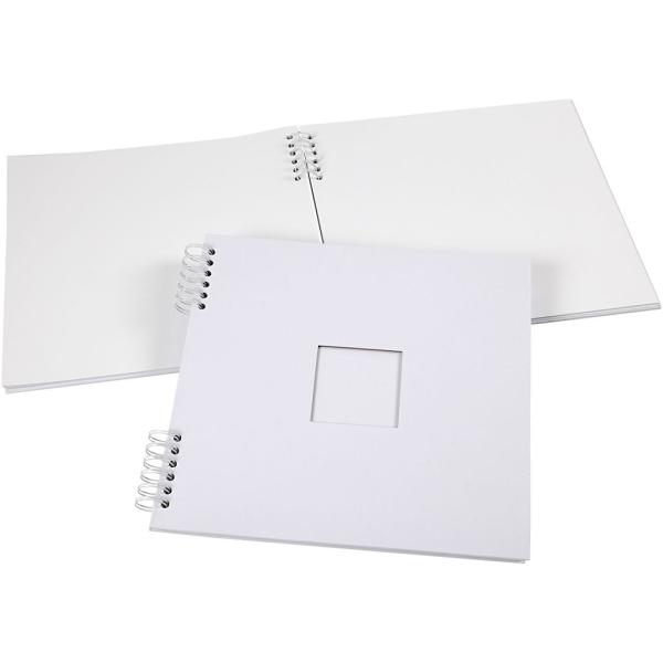 Carnet scrapbooking - 30,5 x 30,5 cm - Blanc - 20 feuilles - Photo n°1
