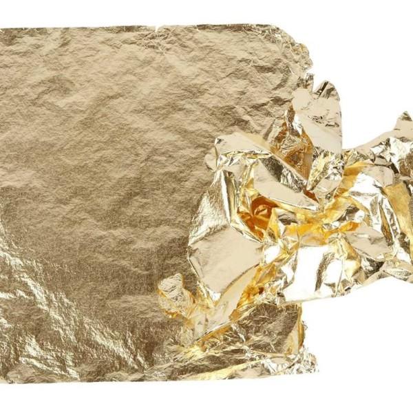 Feuille à dorer - Or - 16 x 16 cm - 25 feuilles - Photo n°1