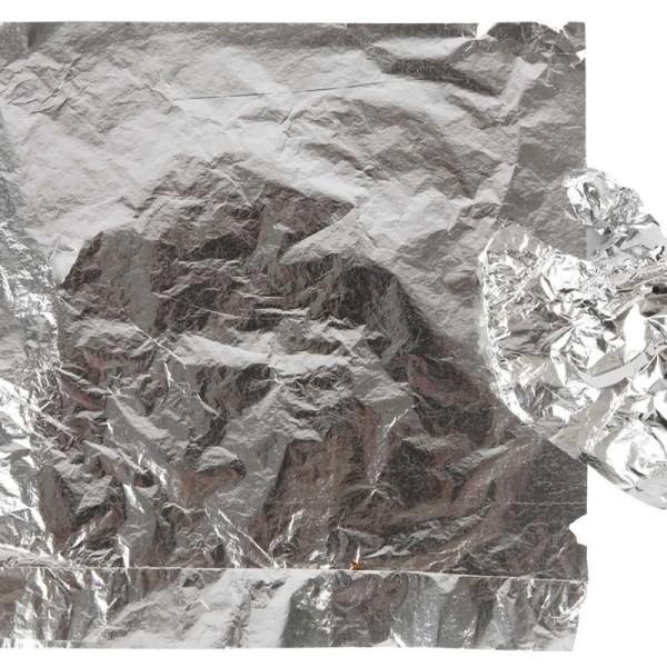Feuille à dorer - Argent - 16 x 16 cm - 25 feuilles - Photo n°1