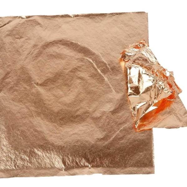 Feuille à dorer - Cuivre - 16 x 16 cm - 25 feuilles - Photo n°1