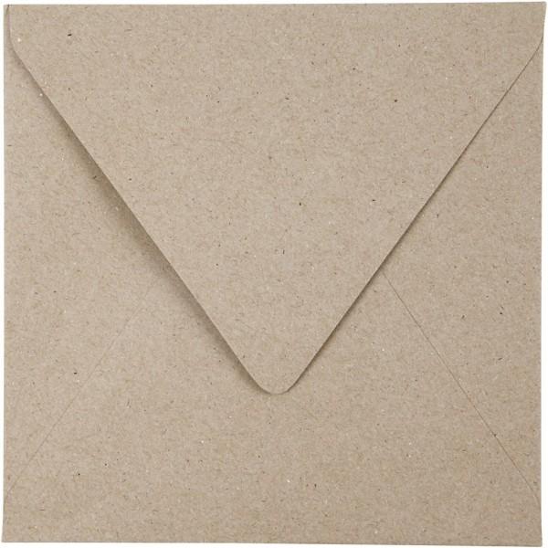 Enveloppes carrées - Papier recyclé - 16 x 16 cm - 50 pcs - Photo n°1