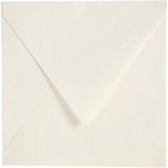 Enveloppes carrées - 16 x 16 cm - Blanc cassé - 50 pcs