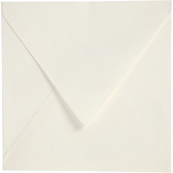 Enveloppes carrées - 16 x 16 cm - Blanc cassé - 50 pcs - Photo n°1